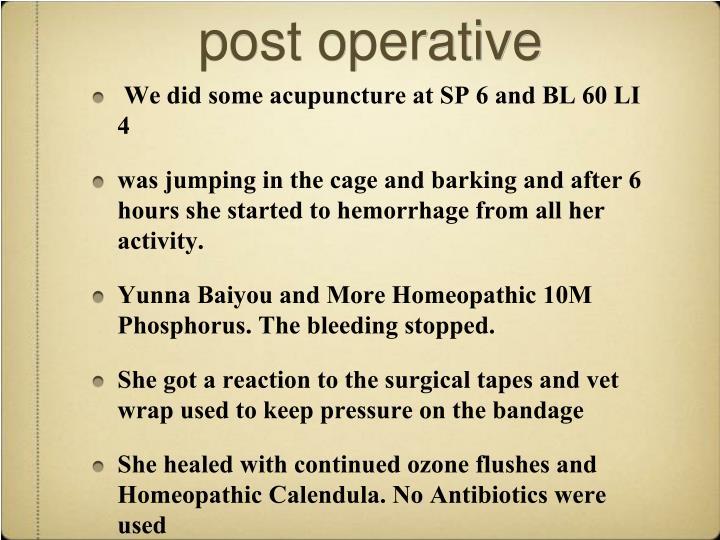 post operative
