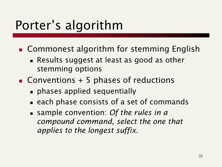 Porter's algorithm