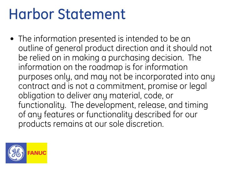Harbor Statement