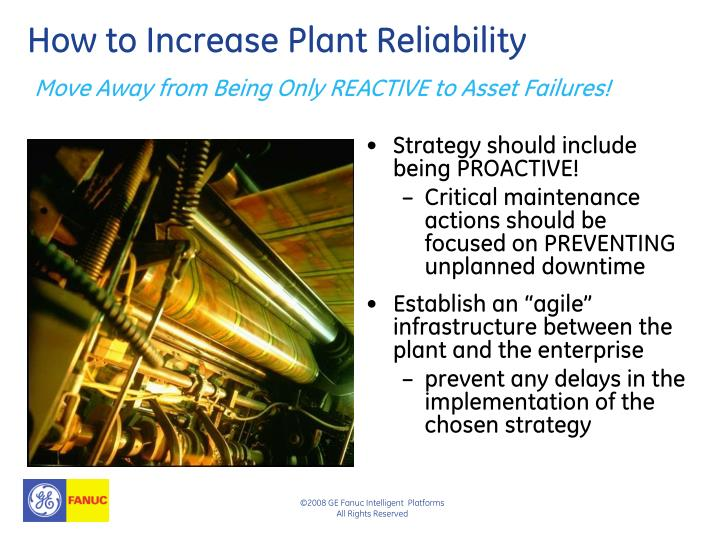 How to Increase Plant Reliability