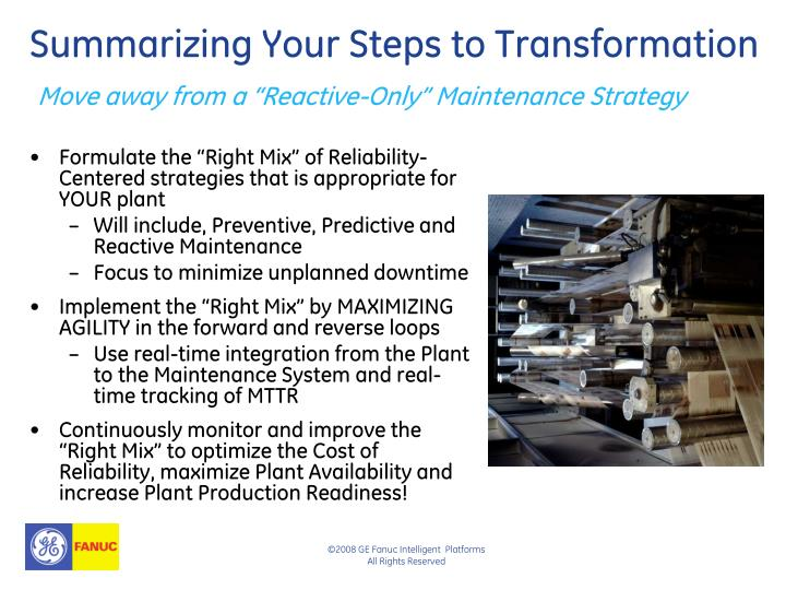 Summarizing Your Steps to Transformation