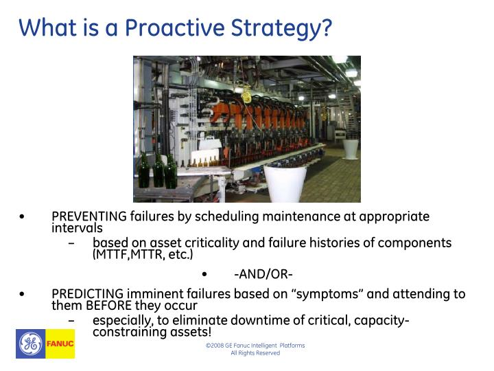 What is a Proactive Strategy?
