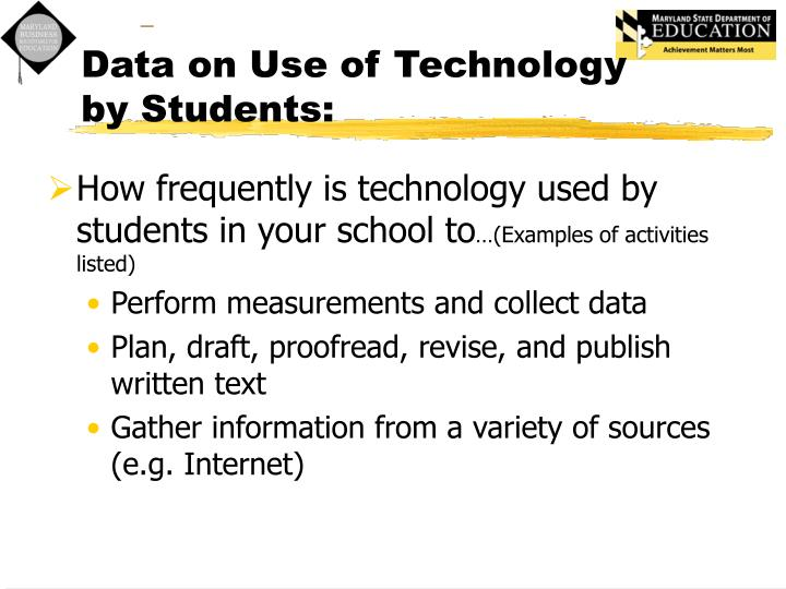 Data on Use of Technology