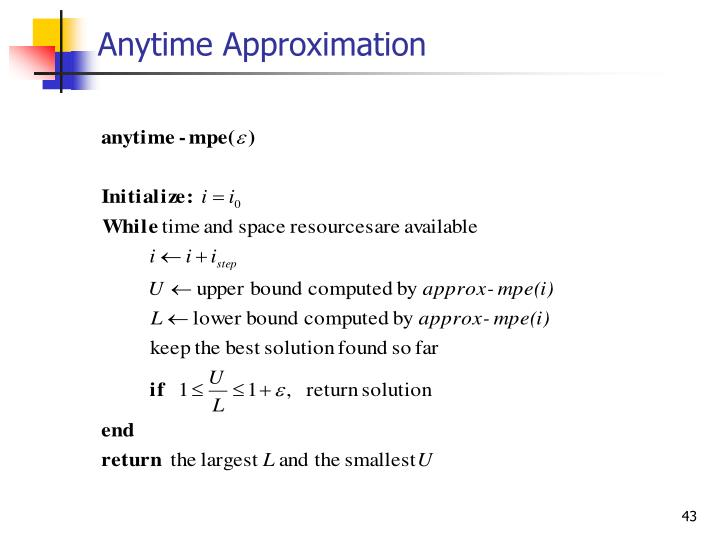 Anytime Approximation