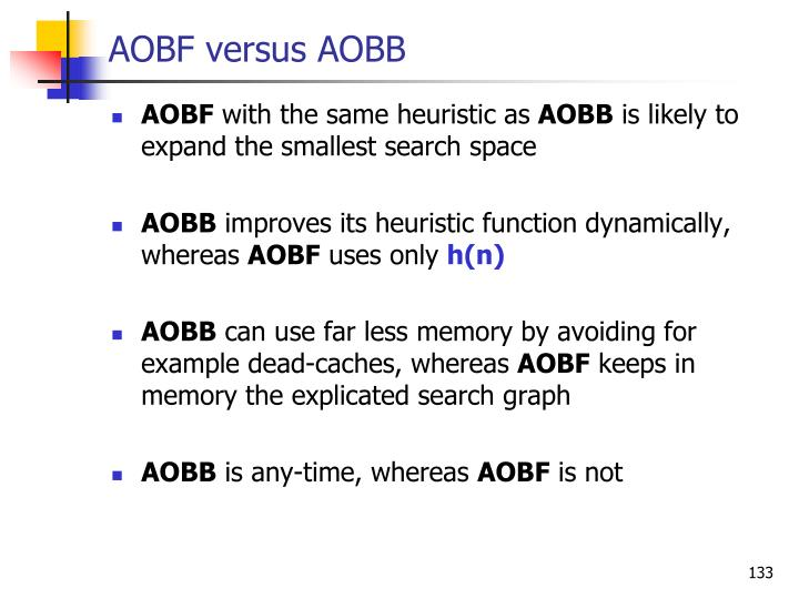 AOBF versus AOBB