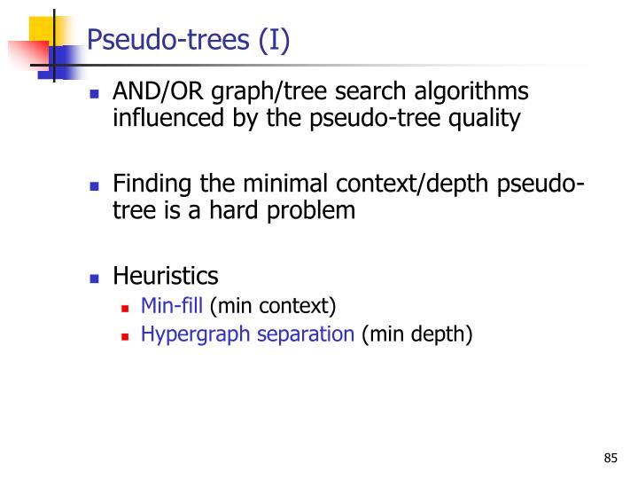 Pseudo-trees (I)