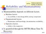 reliability and maintainability1