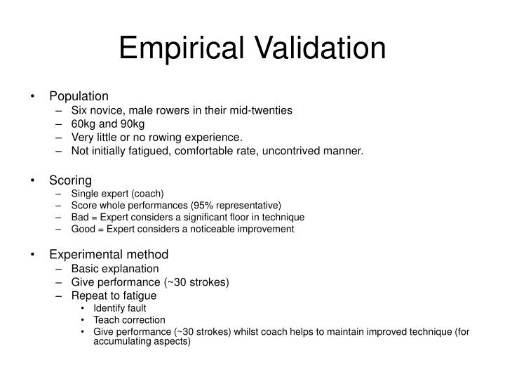 Empirical Validation
