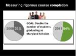 measuring rigorous course completion