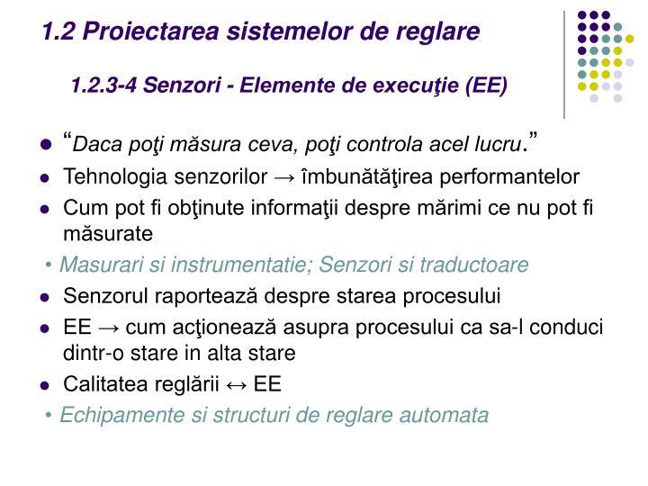 1.2 Proiectarea sistemelor de reglare
