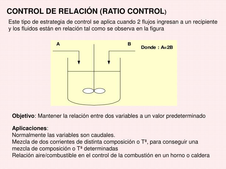 CONTROL DE RELACIÓN (RATIO CONTROL