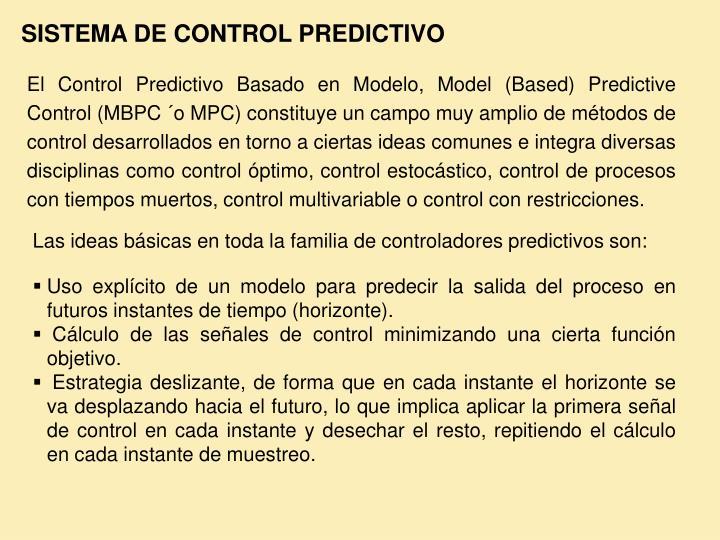 SISTEMA DE CONTROL PREDICTIVO