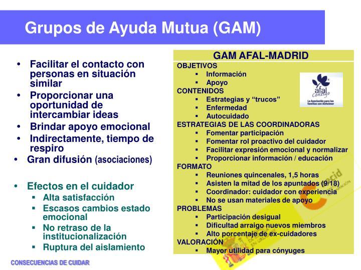 Grupos de Ayuda Mutua (GAM)