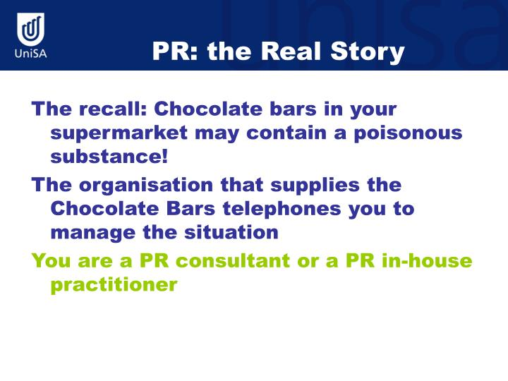 PR: the Real Story