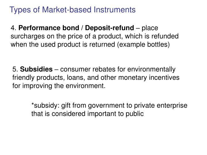 Types of Market-based Instruments
