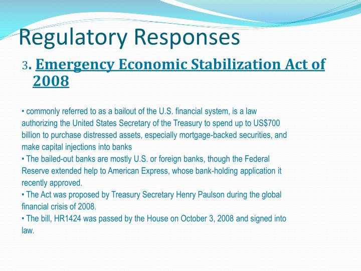 Regulatory Responses