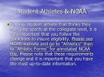 student athletes ncaa