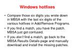 windows hotfixes