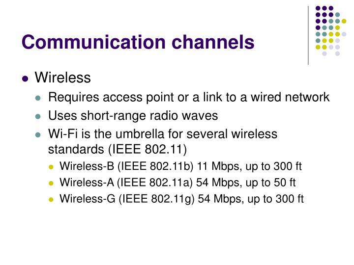 Communication channels