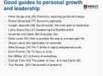 good guides to personal growth and leadership