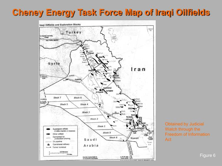 Cheney Energy Task Force Map of Iraqi Oilfields