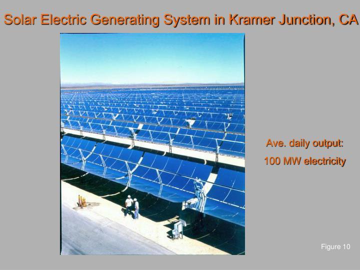 Solar Electric Generating System in Kramer Junction, CA