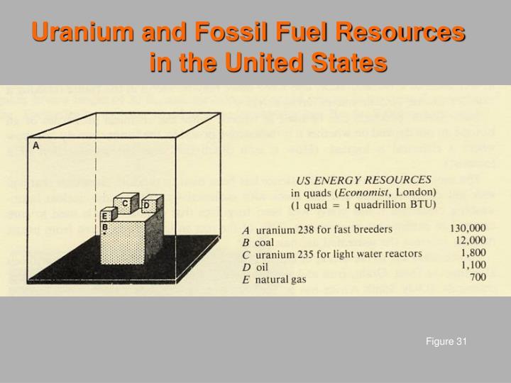 Uranium and Fossil Fuel Resources