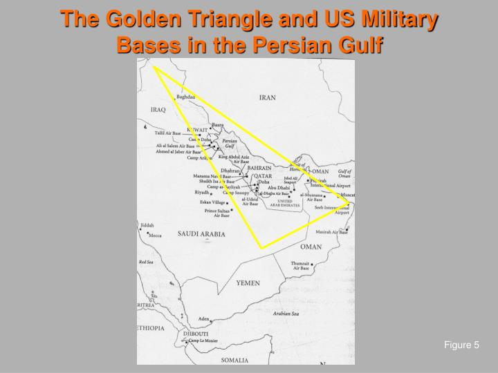 The Golden Triangle and US Military Bases in the Persian Gulf