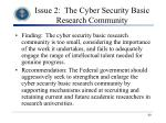 issue 2 the cyber security basic research community