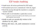 ex tender auditing