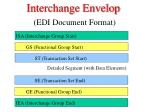 interchange envelop edi document format