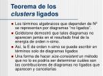 teorema de los clusters ligados1