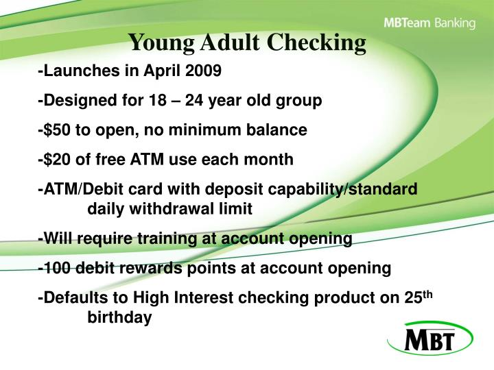 Young Adult Checking
