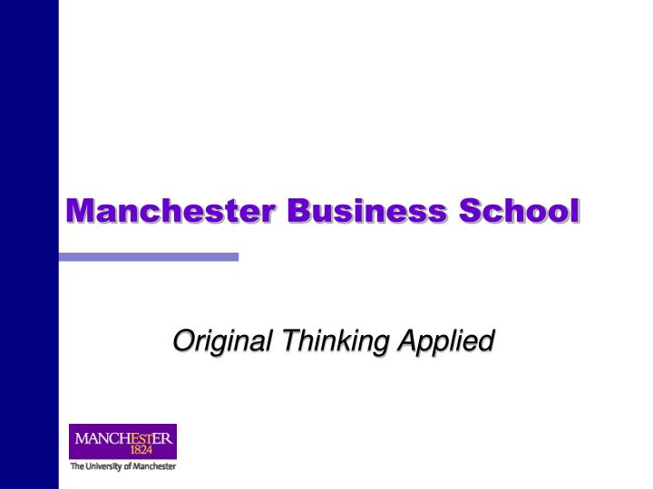 manchester business school n.