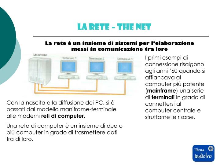 LA RETE – THE NET