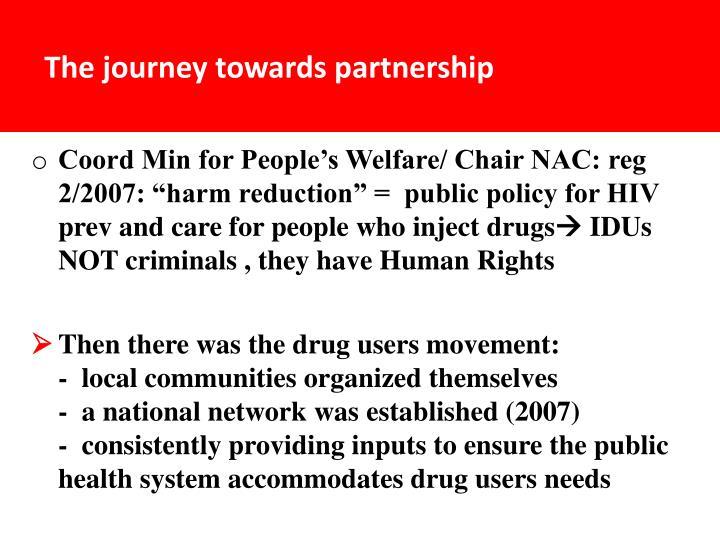 The journey towards partnership