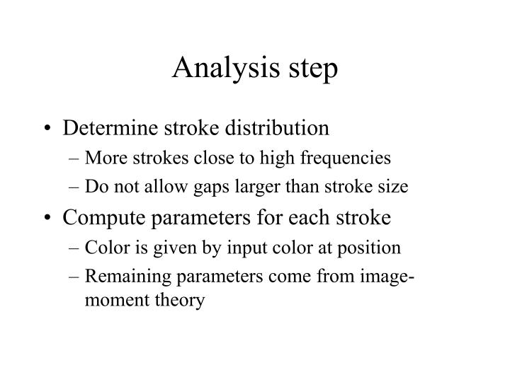 Analysis step
