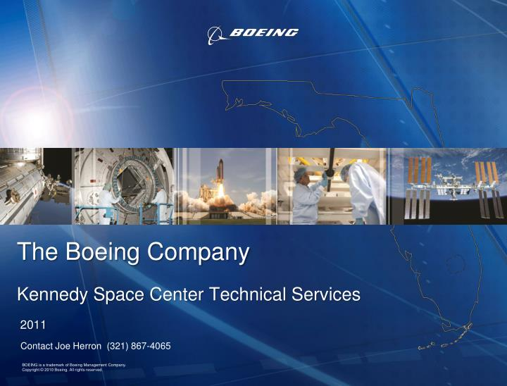 the boeing company kennedy space center technical services 2011
