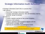 strategic information audit definition
