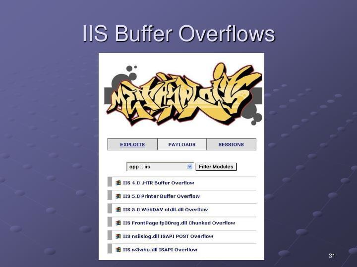IIS Buffer Overflows