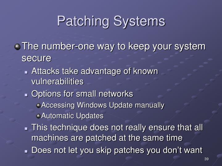 Patching Systems