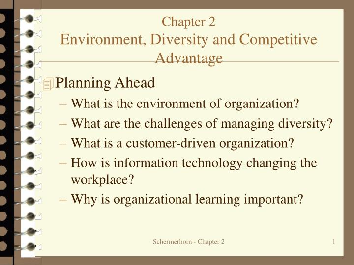 Chapter 2 environment diversity and competitive advantage