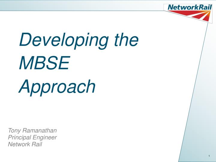 developing the mbse approach n.