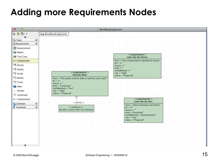 Adding more Requirements Nodes