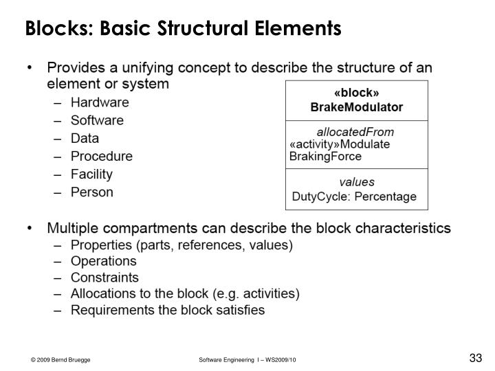 Blocks: Basic Structural Elements