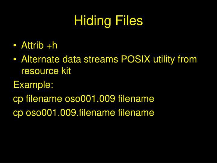 Hiding Files