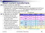 beam current transformers