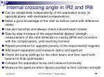 internal crossing angle in ir2 and ir8