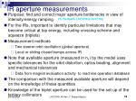 ir aperture measurements