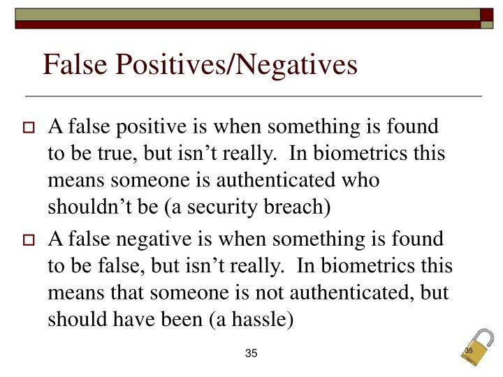False Positives/Negatives